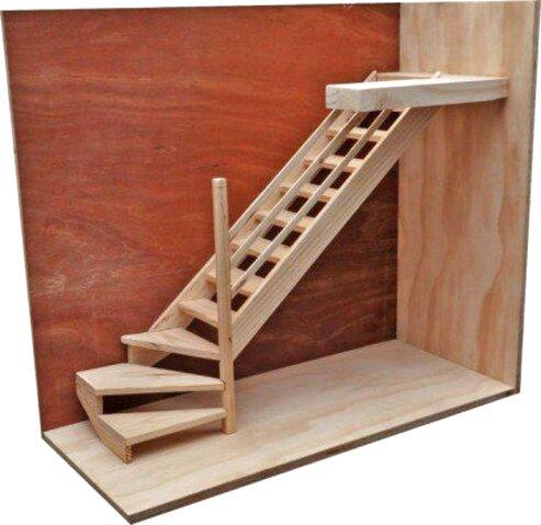 escalera madera de segunda mano
