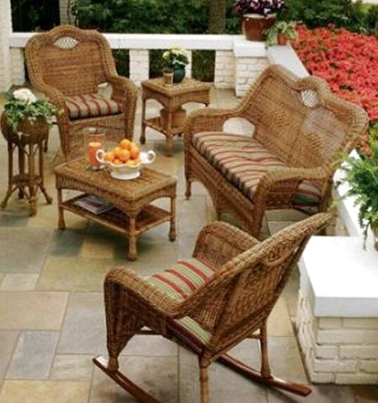 muebles mimbre terraza de segunda mano