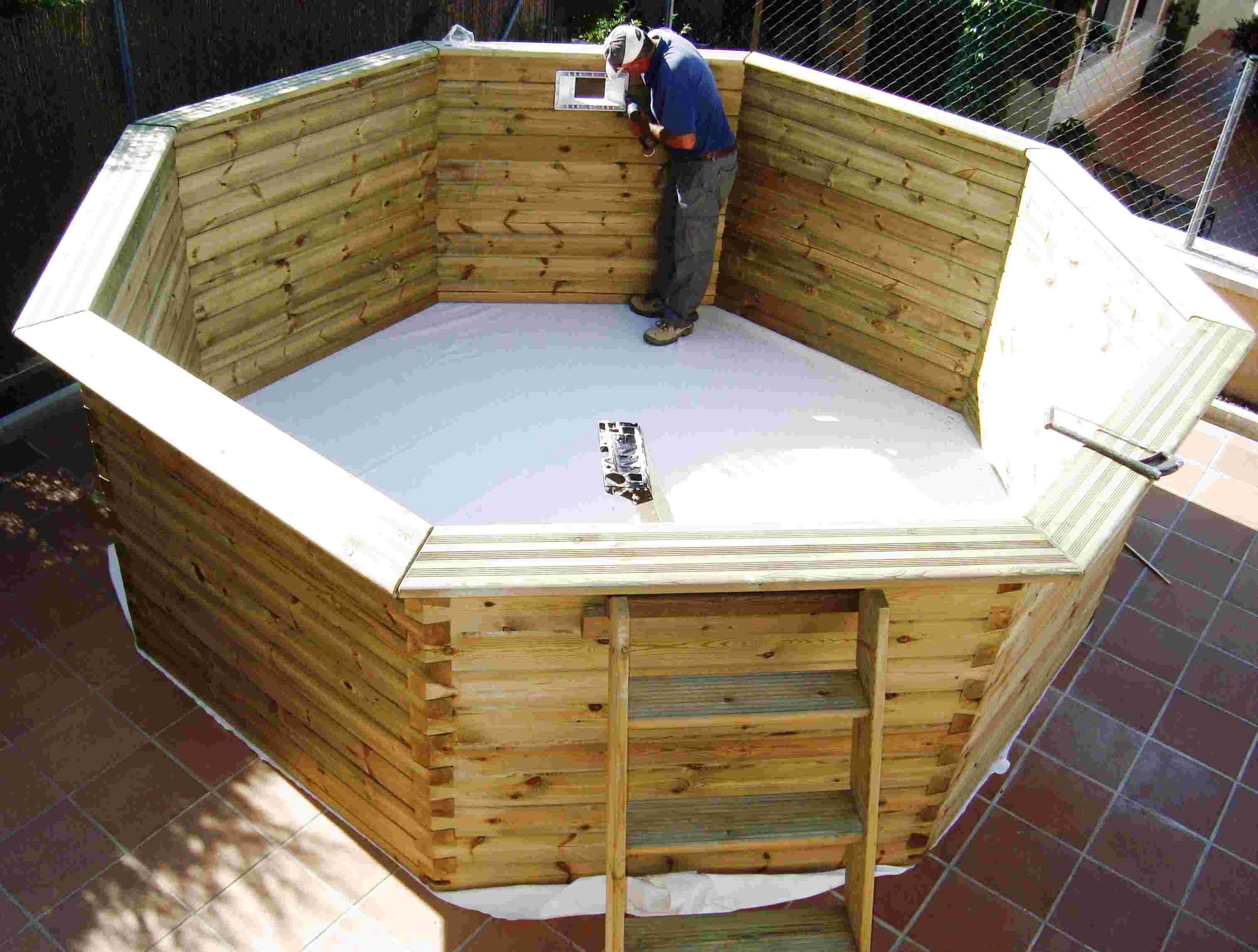 piscina madera de segunda mano