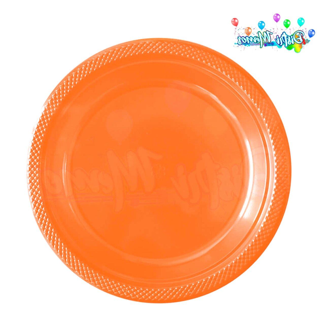 plato naranja de segunda mano