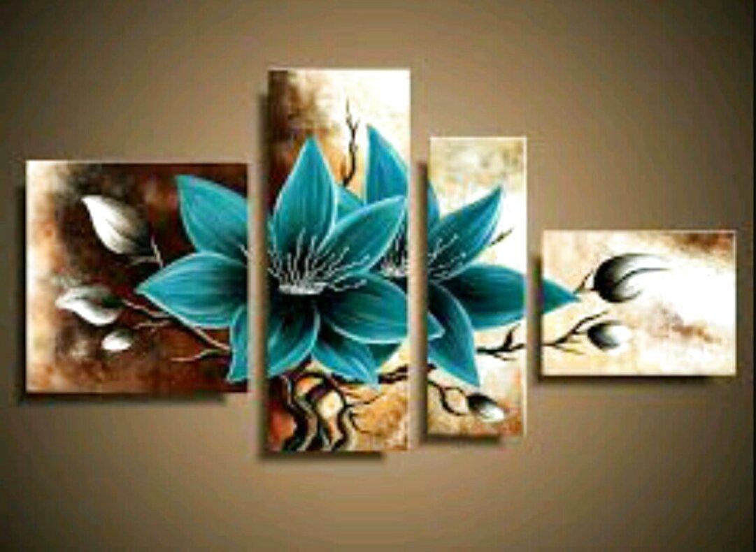 cuadros pintados de segunda mano