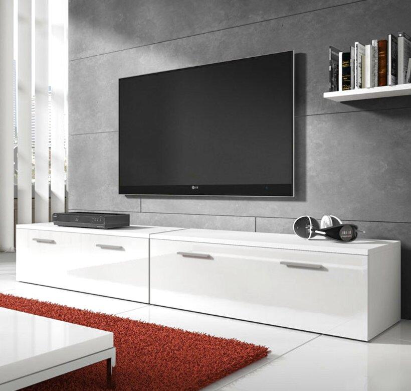 mueble tv blanco de segunda mano