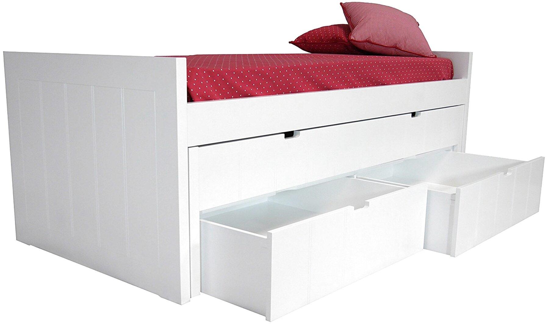 cama nido blanco lacado de segunda mano