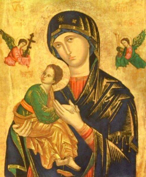 icono religioso de segunda mano